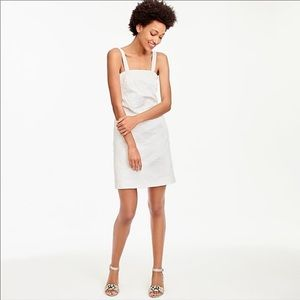 J Crew Convertible Dress In Embossed Floral White